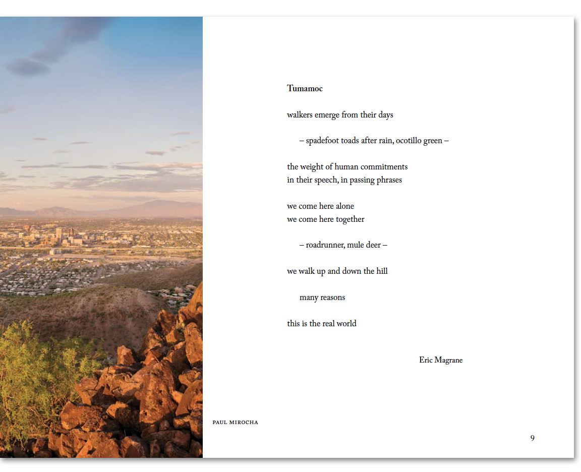 """Tumamoc,"" a poem by eric magrane from ""This Piece of EArth: Images adn Words from Tumamoc Hill"""