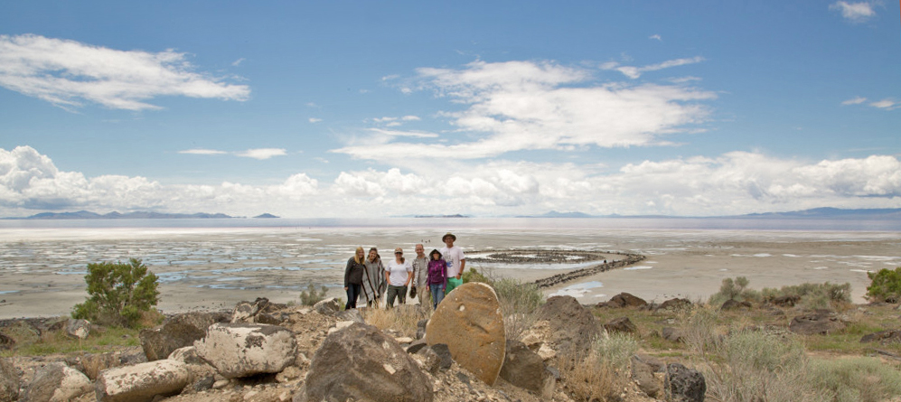 spiral jetty field course, great salt lake